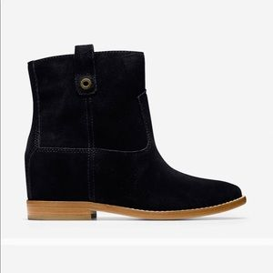 •Cole Haan• Black Suede Ankle Boots